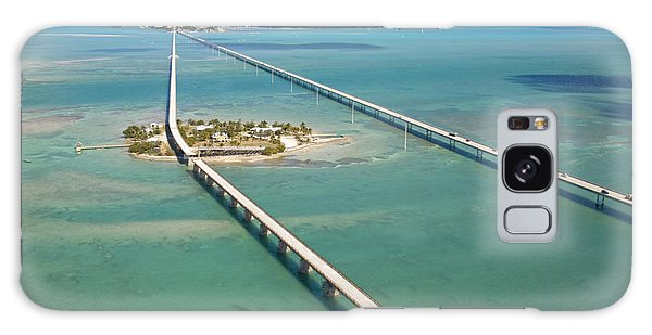 Pigeon Galaxy S8 Case - Seven Mile Bridge Crossing Pigeon Key by Mike Theiss