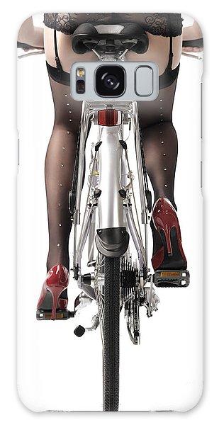 Body Parts Galaxy Case - Sexy Woman Riding A Bike by Oleksiy Maksymenko
