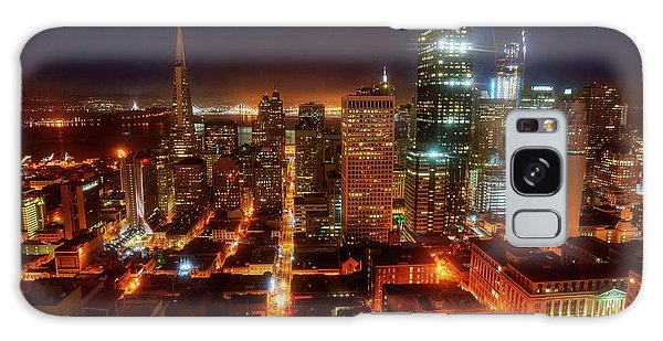 Galaxy Case featuring the photograph Sf Gotham City by Peter Thoeny
