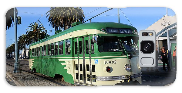 Sf Muni Railway Trolley Number 1006 Galaxy Case
