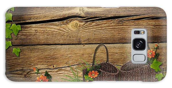 Shabby Chic Flowers In Rustic Basket Galaxy Case
