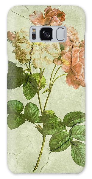 Shabby Chic Pink And White Peonies Galaxy Case