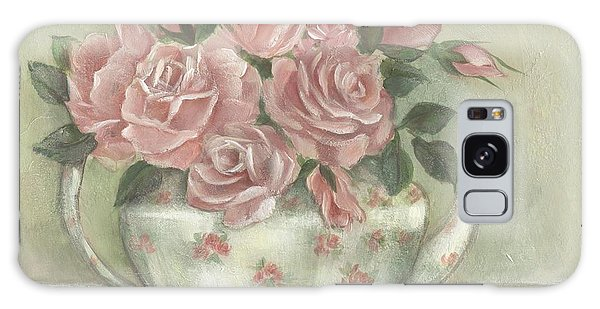Shabby Teapot Rose Painting Galaxy Case