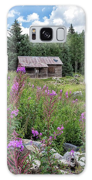 Shack With Fireweed Galaxy Case