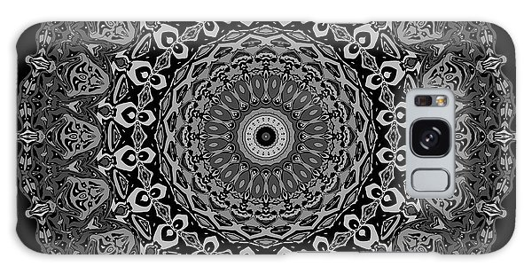 Galaxy Case featuring the digital art Shades Of Gray No. 6 by Joy McKenzie