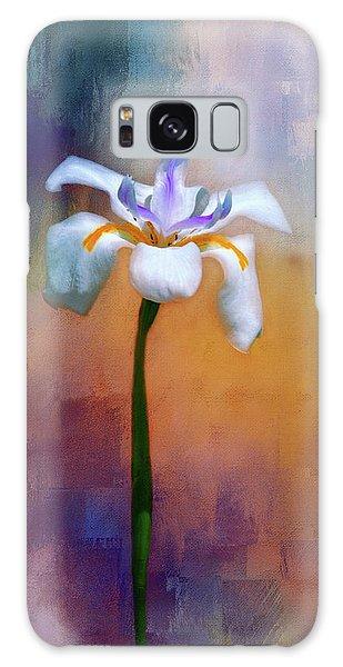 Shades Of Iris Galaxy Case by Carolyn Marshall
