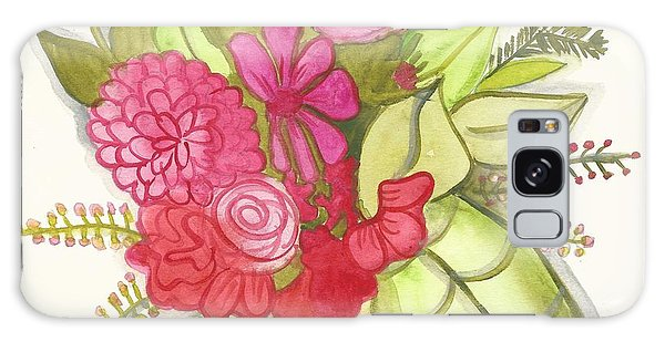 Shades Of Red Bouquet Galaxy Case