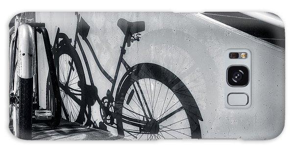 Shadow Of A Bike At Carolina Beach Galaxy Case