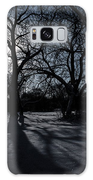 Shadows In January Snow Galaxy Case