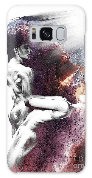 Shadowtwister Formation Conte Drawing - Textured  Galaxy Case by Paul Davenport
