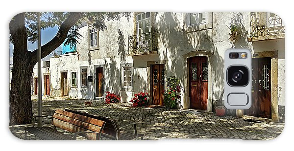 Galaxy Case featuring the photograph Shady Street In Tavira, Portugal by Barry O Carroll