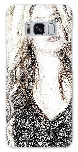 Shakira - Pencil Art Galaxy Case by Raina Shah