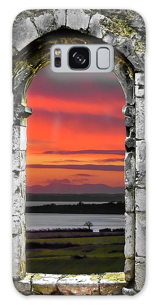 Galaxy Case featuring the photograph Shannon Sunrise Through Medieval Arch by James Truett
