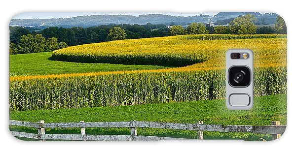Shapely Cornfield 1 Galaxy Case