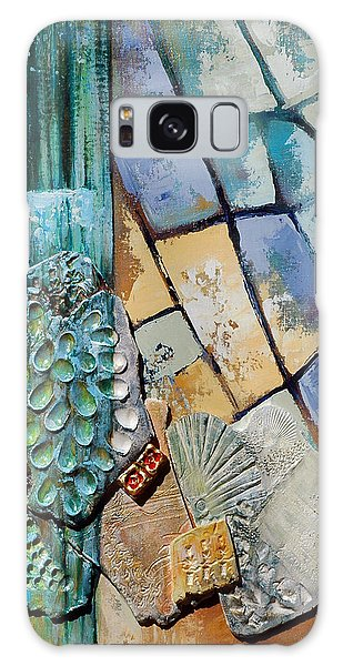 Shards Water Clay And Fire Galaxy Case by Suzanne McKee