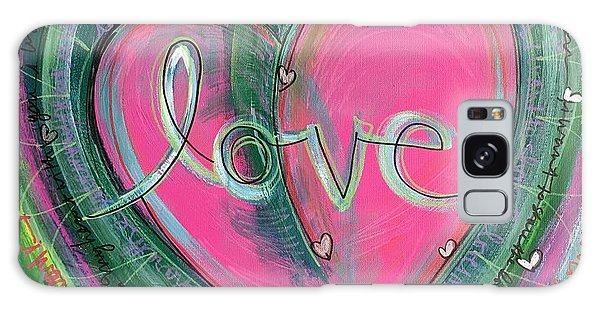 Galaxy Case featuring the painting Share My Love Heart by Laurie Maves ART