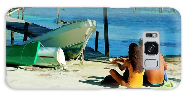 Sharing A Coconut On Caye Caulker, Belize Galaxy Case