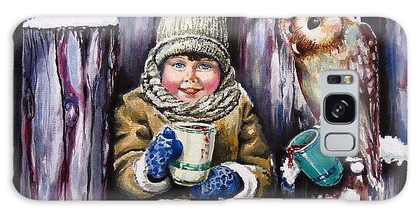 Sharing A Hot Chocolate Galaxy Case by Geni Gorani