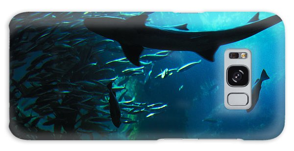 Shark Above Galaxy Case by Carl Purcell