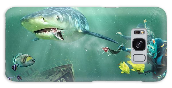Reef Diving Galaxy Case - Shark Bait by Don Olea