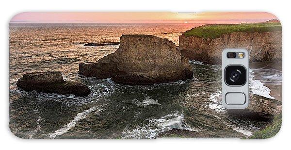 Shark Fin Cove Sunset Galaxy Case