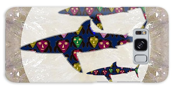 Shark Fish Dangerous Painted Cartoon Face Link For Download Option Below Personal N Commercial Uses Galaxy Case by Navin Joshi
