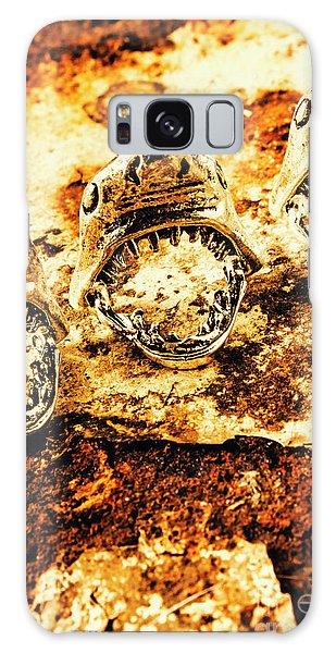 Pendant Galaxy Case - Shark Pendants On Rusty Marine Background by Jorgo Photography - Wall Art Gallery