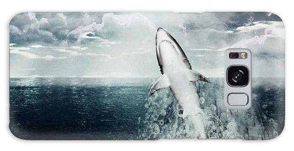 Shark Watch Galaxy Case by Digital Art Cafe