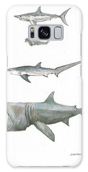 Hammerhead Shark Galaxy Case - Sharks In The Deep Ocean by Juan Bosco