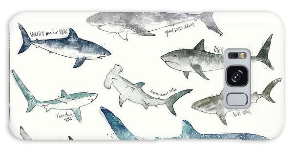 Sharks Galaxy Case - Sharks - Landscape Format by Amy Hamilton