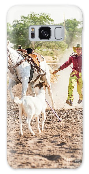 Shawnee Sagers Goat Roping Competition Galaxy Case