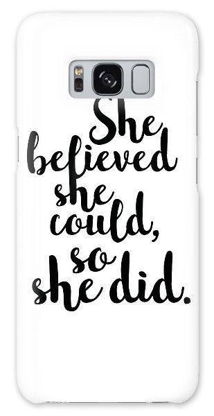 Cottage Galaxy Case - She Believed She Could So She Did by Studio Grafiikka
