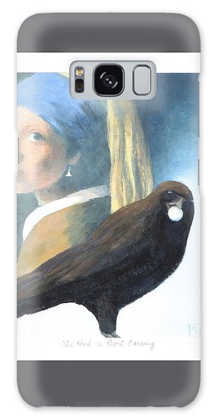 Girl With A Pearl Earring Galaxy Case - She Had A Pearl Earring by Phyllis Andrews