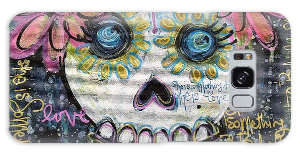 Galaxy Case featuring the painting She Is Something To Behold by Laurie Maves ART