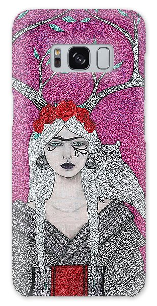 Galaxy Case featuring the mixed media She Wears The Crown by Natalie Briney