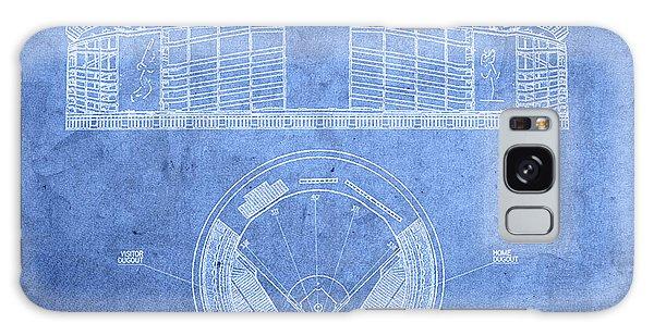 Shea Stadium New York Mets Baseball Field Blueprints Galaxy Case