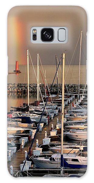 Sheboygan Harbor Rainbow Galaxy Case