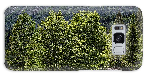 Galaxy Case featuring the photograph Shed In The Slovenian Alps by Stuart Litoff