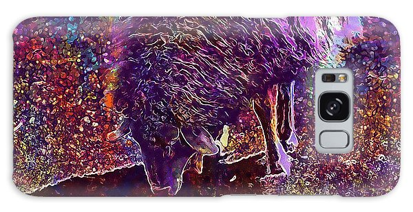 Galaxy Case featuring the digital art Sheep Animal Animals Wool Meadow  by PixBreak Art