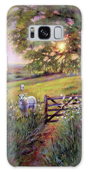 Sheep At Sunset Galaxy Case