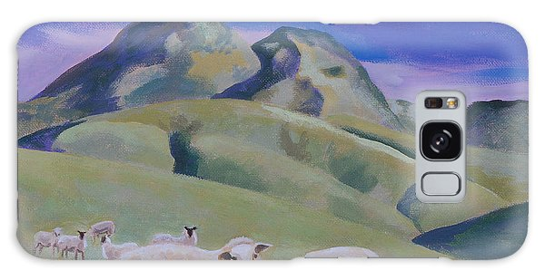 Sheep At Sutter Buttes Galaxy Case