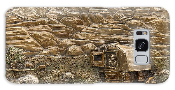 Sheep Herder's Wagon Galaxy Case