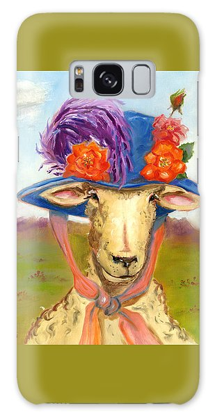 Sheep In Fancy Hat Galaxy Case by Susan Thomas
