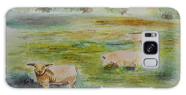 Sheep In Pasture Galaxy Case