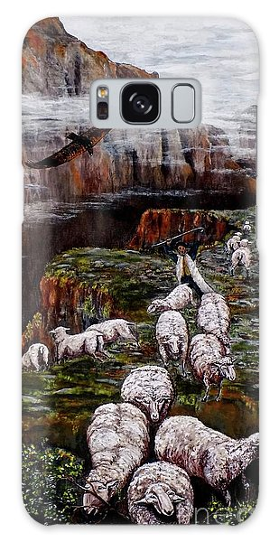 Sheep In The Mountains  Galaxy Case by Judy Kirouac