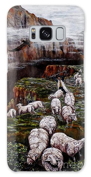 Sheep In The Mountains  Galaxy Case