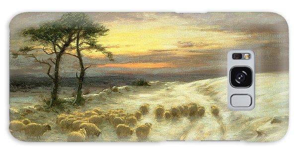 Hills Galaxy Case - Sheep In The Snow by Joseph Farquharson