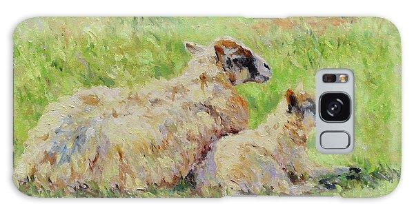 Sheep In The Spring Time,la Vie Est Belle Galaxy Case