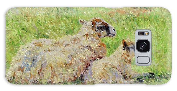 Sheep In The Spring Time,la Vie Est Belle Galaxy Case