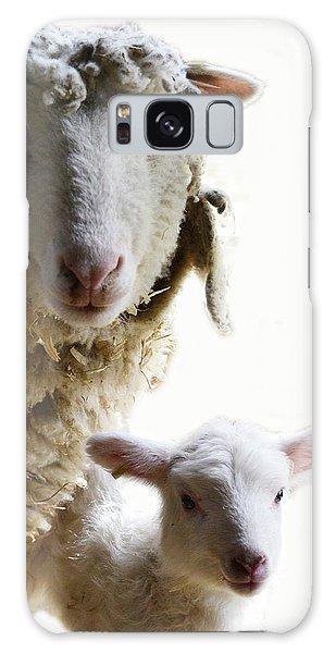 Sheep Portrait Galaxy Case